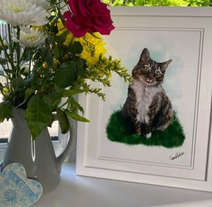 Art by Carmel Behan cat